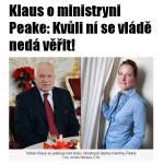 Президент Чехии Клаус и экс-министр Пик | blesk.cz
