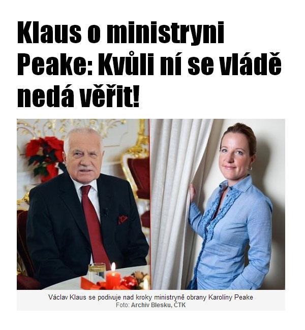 Президент Клаус и экс-министр Пик | blesk.cz