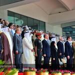 7. Появление государственного флага ОАЭ сопровождается исполнением гимна