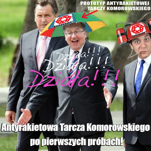 Противоракетный зонтик президента Коморовского | radiownet.pl