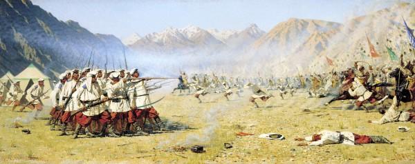 Верещагин - Нападают врасплох - 1871