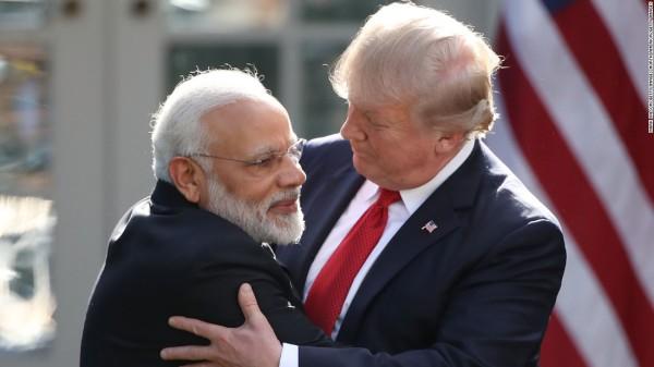 Премьер-министр Индии Нарендра Моди и Президент США Дональд Трамп (c) cnn.com
